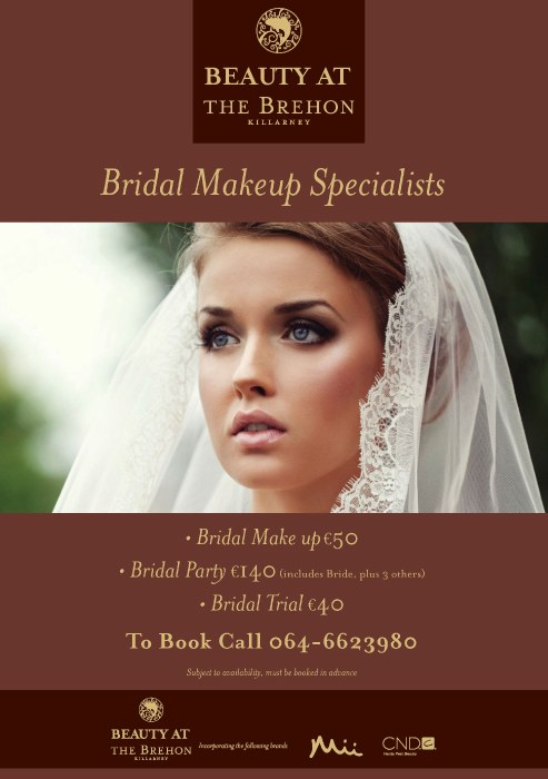 Make Up appointments at The Brehon